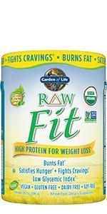 raw fit high protein for weightloss