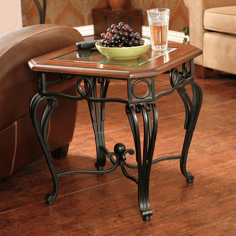 Amazon.com: Southern Enterprises Prentice Side End Table, Dark ...
