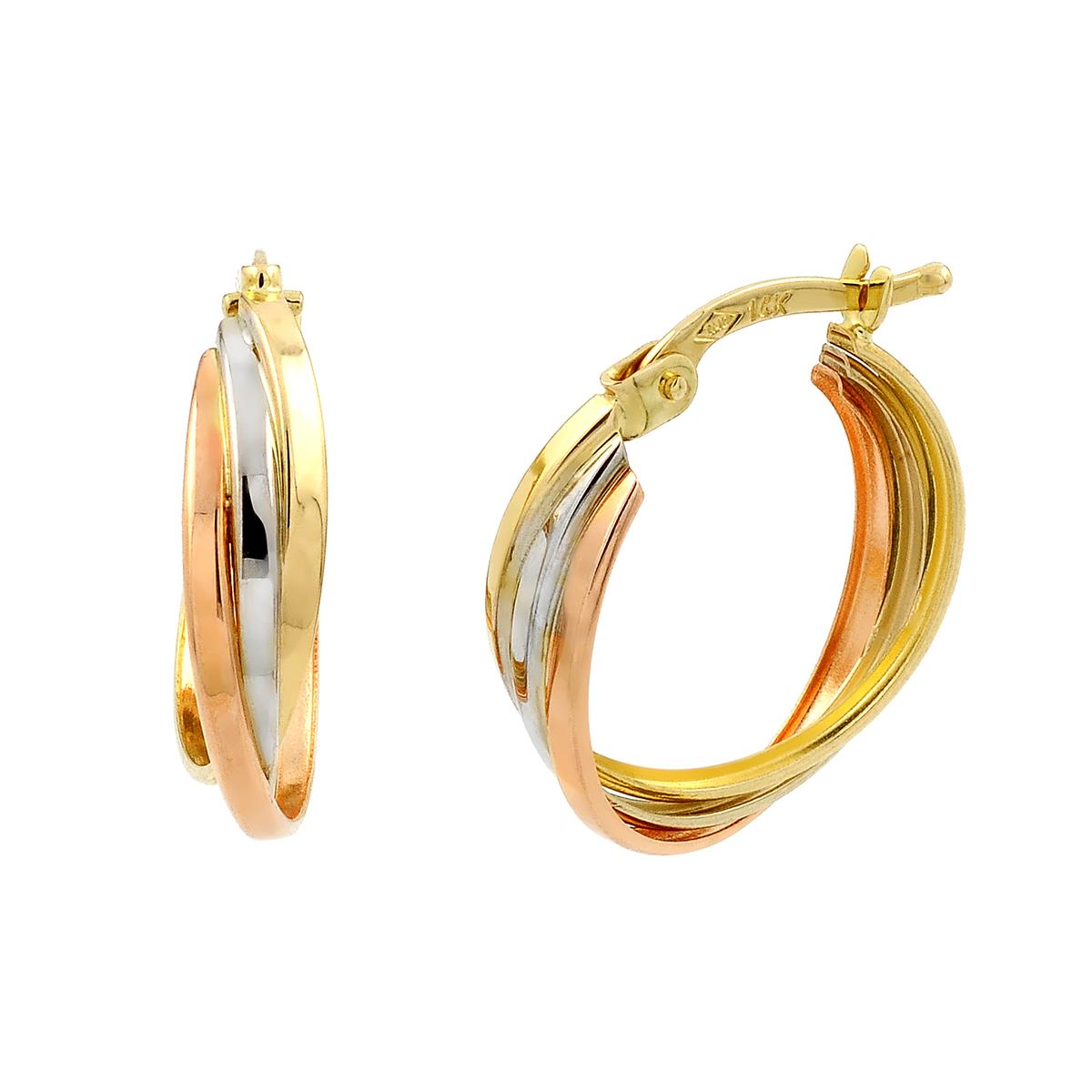 Elements Gold Twist Hoop Earrings - Gold Gold (Colour) pCcVS4Zd