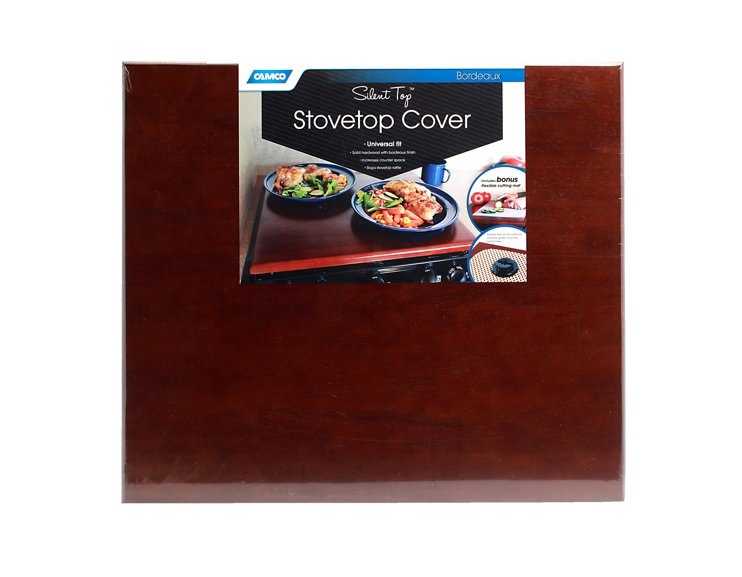Camco 43526 Universal Silent Top Stovetop Cover Bordeaux