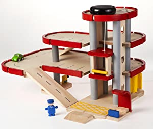 plan toys city series parking garage toys games. Black Bedroom Furniture Sets. Home Design Ideas