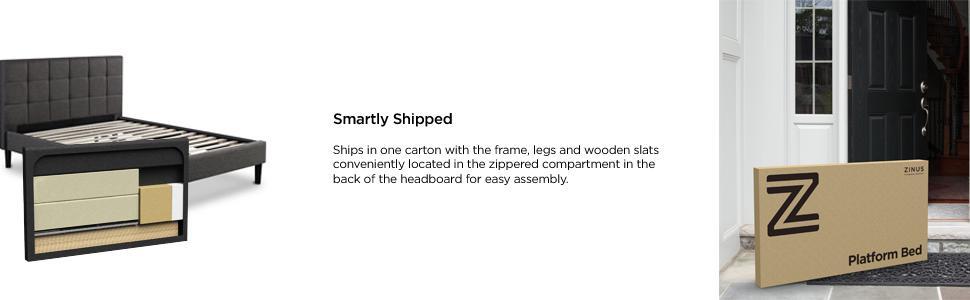 Amazon Com Zinus Ibidun Upholstered Button Tufted