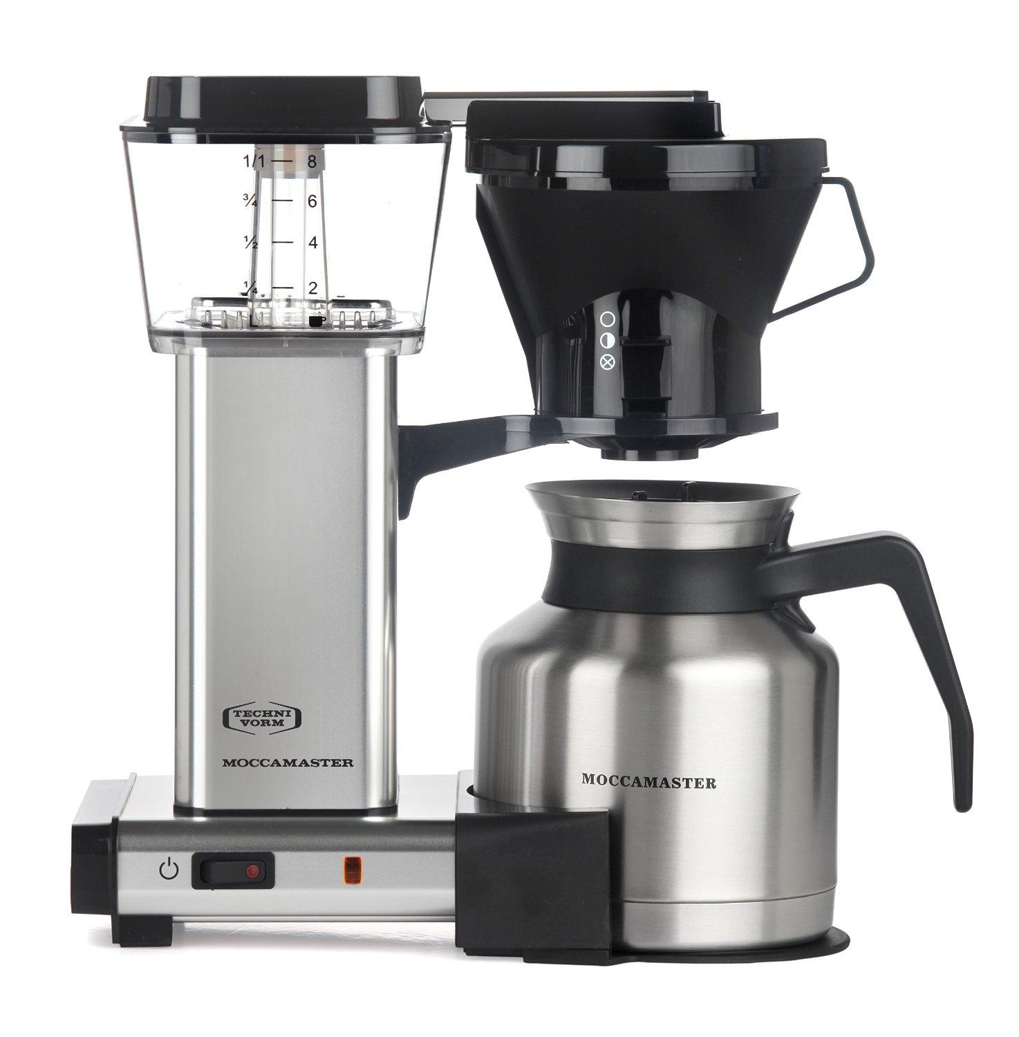 Amazon.com: Moccamaster 79212 KBTS 8-Cup Coffee Brewer with Thermal Carafe, Polished Silver ...