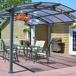 Palram Arcadia 5000 Carport Patio Cover 16