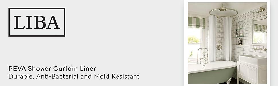 Amazon LiBa Mildew Resistant Anti Bacterial PEVA 8G Shower