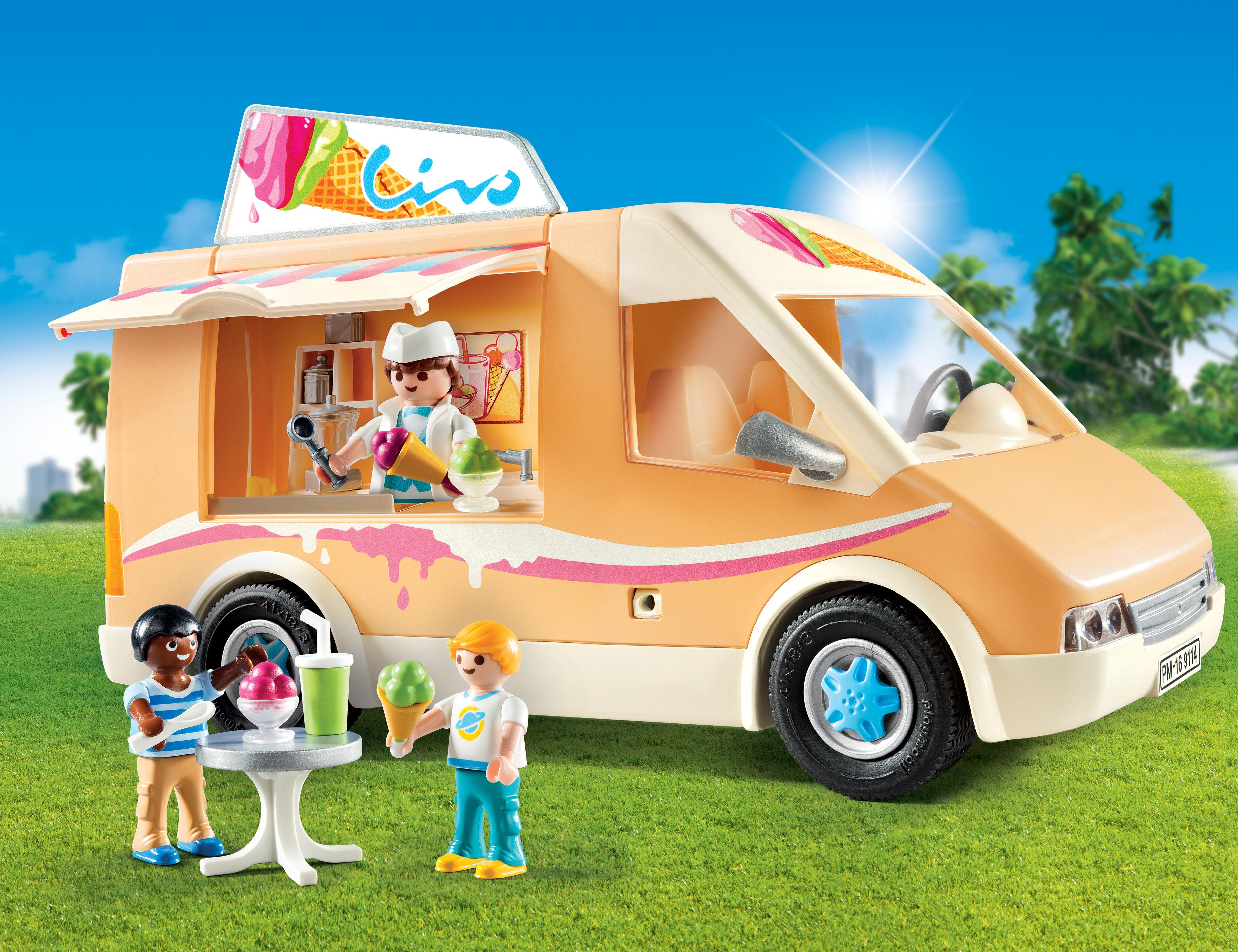 amazon com playmobil ice cream truck toys u0026 games