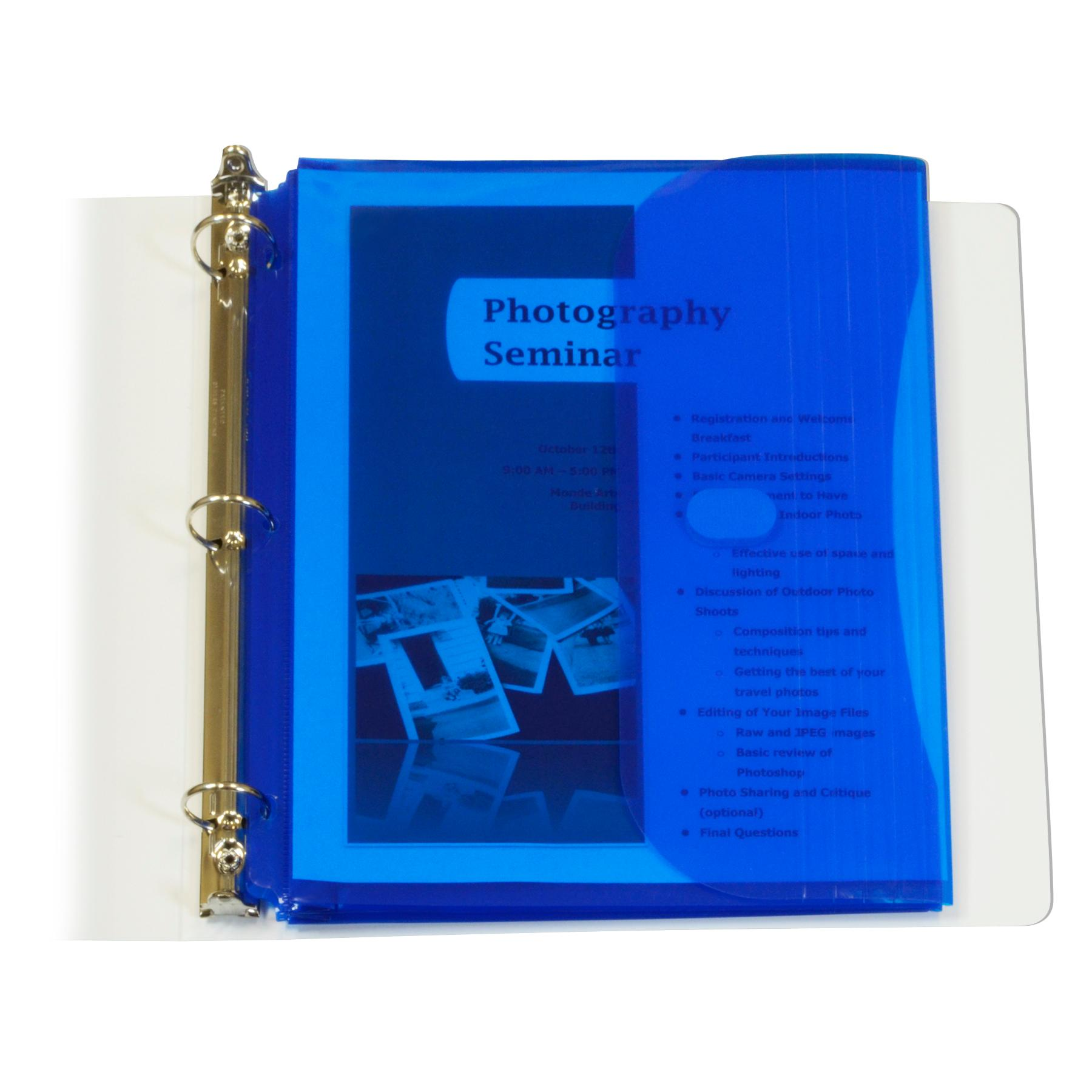 C-Line 5-Tab Binder Pockets With Write-On Index Tabs