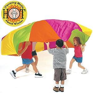 parachute, kids, play