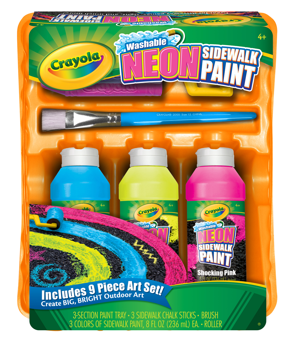Amazon Com Crayola Washable Neon Sidewalk Paint Outdoor