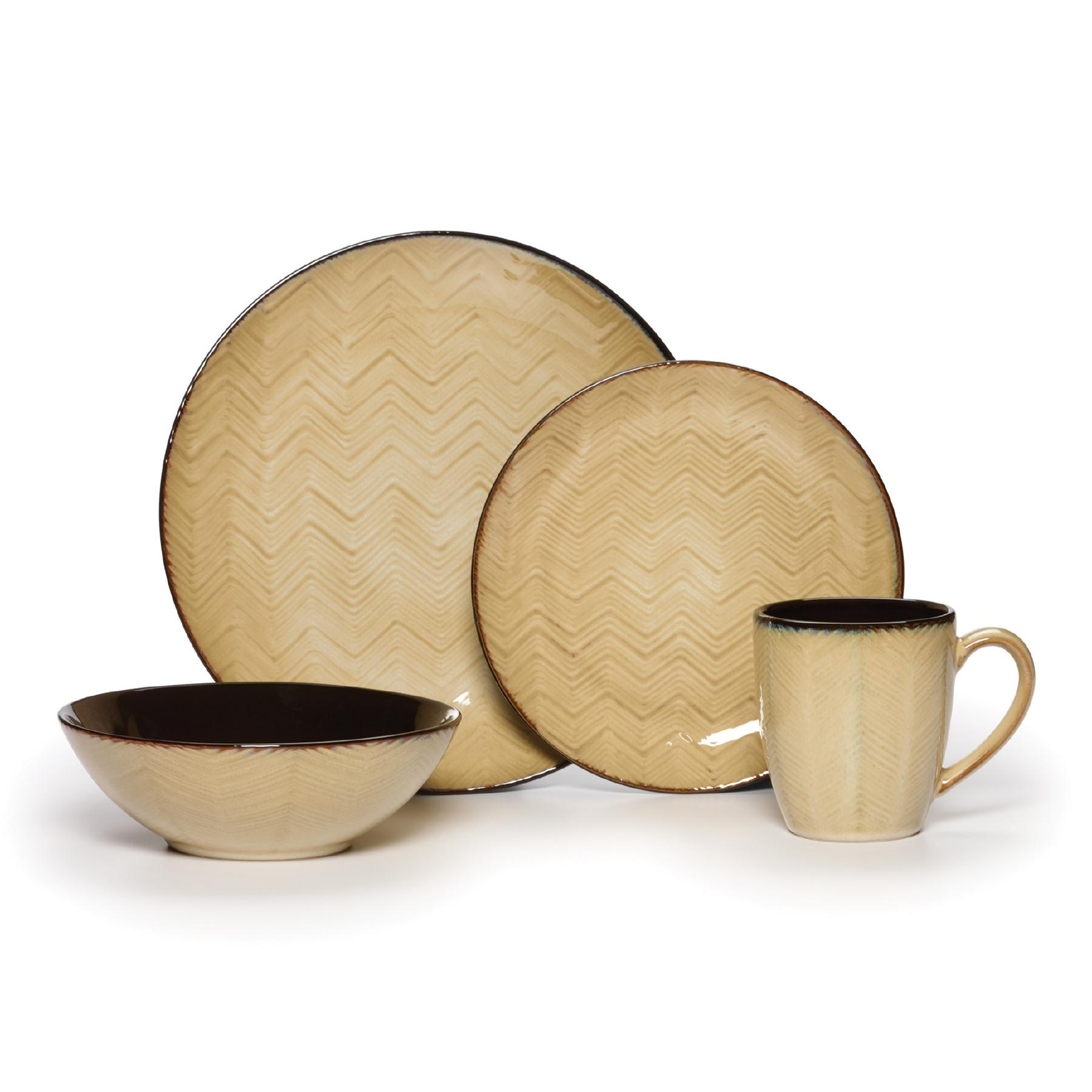 View larger  sc 1 st  Amazon.com & Amazon.com | Linden 16 Piece Dinnerware Set: Dinnerware Sets