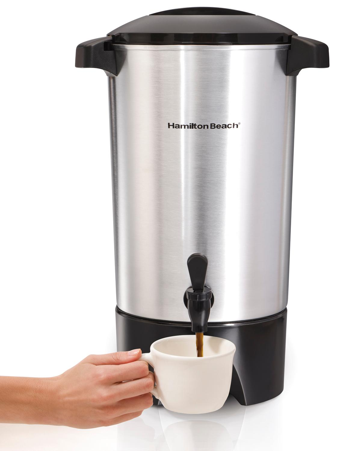 Amazoncom Hamilton Beach Cup Coffee Urn Silver - 5 most unique coffee shops in hamilton on