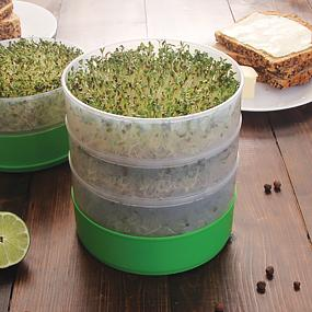 deluxe kitchen crop 4-tray seed sprouter vkp1200