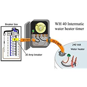intermatic eh10 120 volt electronic water heater timer wall from the manufacturer