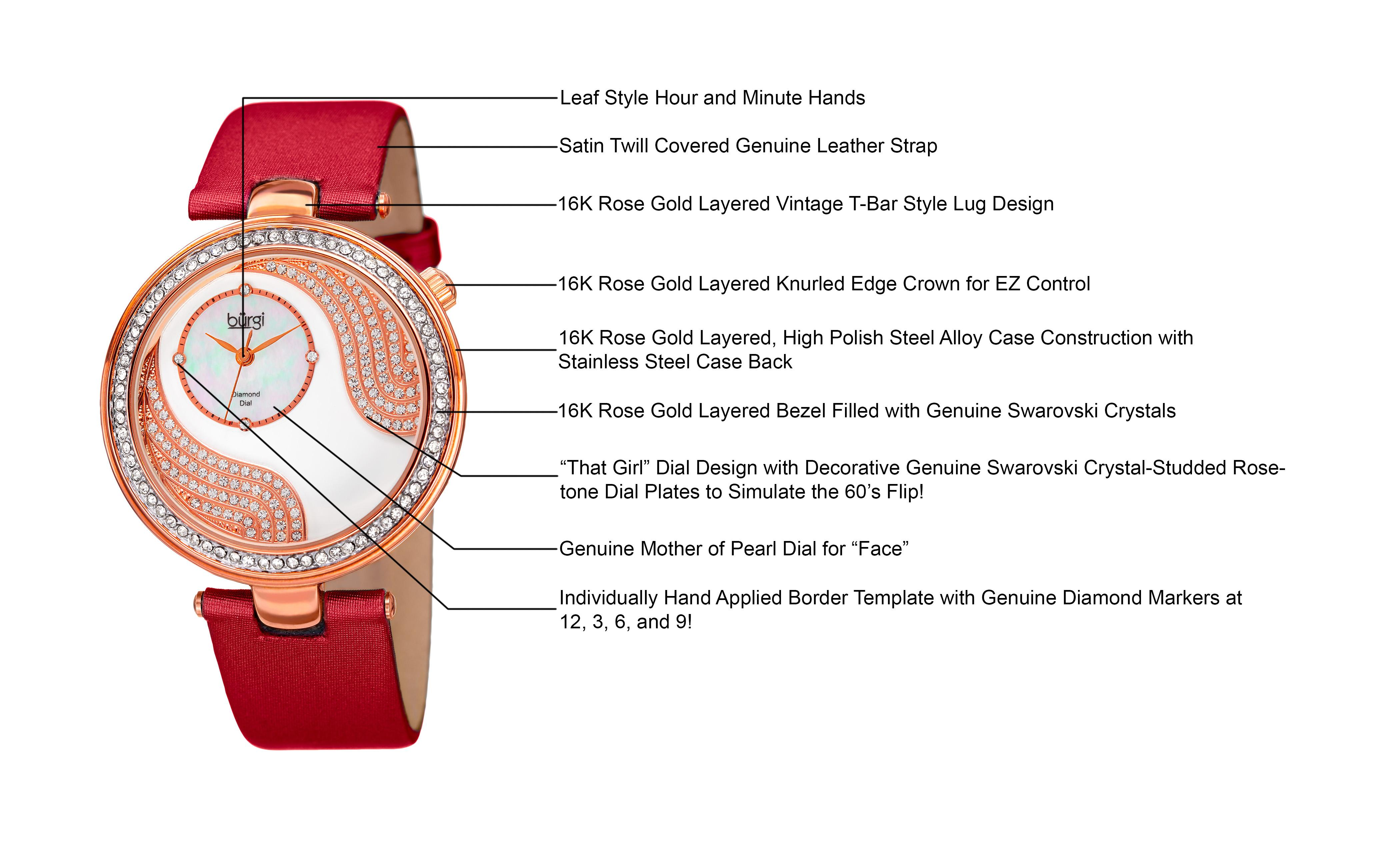 Amazon burgi womens bur155rd rose gold quartz watch with view larger pronofoot35fo Image collections