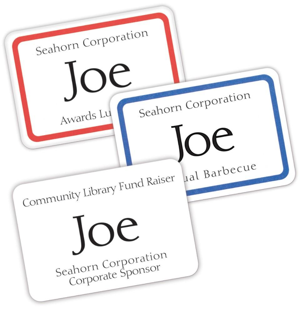 amazon com avery print or write name badge labels with blue border