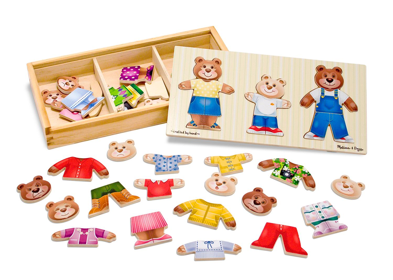 Melissa And Doug Toys : Amazon melissa doug mix n match wooden bear family