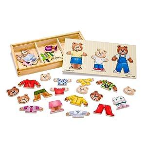 toy for 3 year old, girls, boys, preschool, storytelling, teddy bears, dolls, clothing