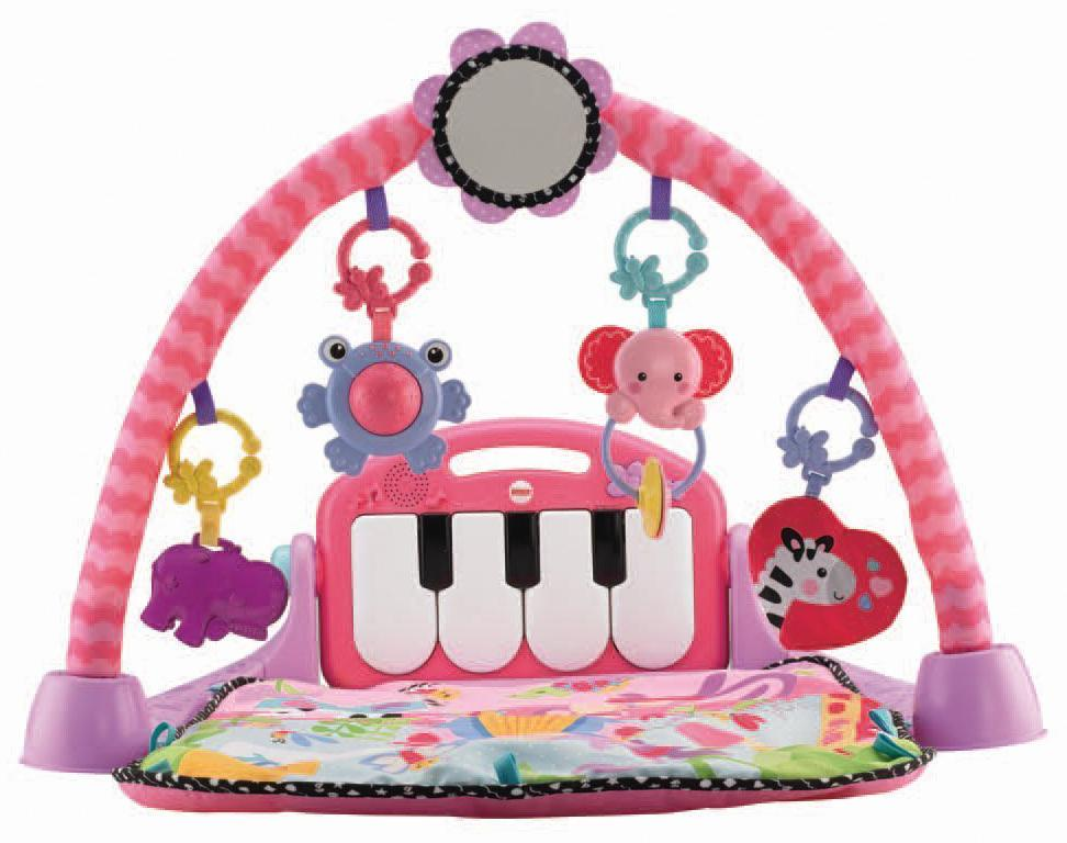 Amazon.com : Fisher-Price Kick and Play Piano Gym, Pink ...