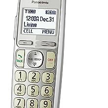 Panasonic KX-TGE274S - Large White Backlit Display