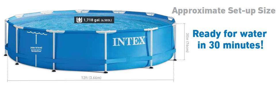 Juego de piscina intex de 12 pies x 30 pulgadas de metal - Piscine intex 12 x 30 ...