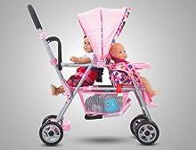 Amazon.com: Joovy Toy Doll Caboose Tandem Stroller - Pink