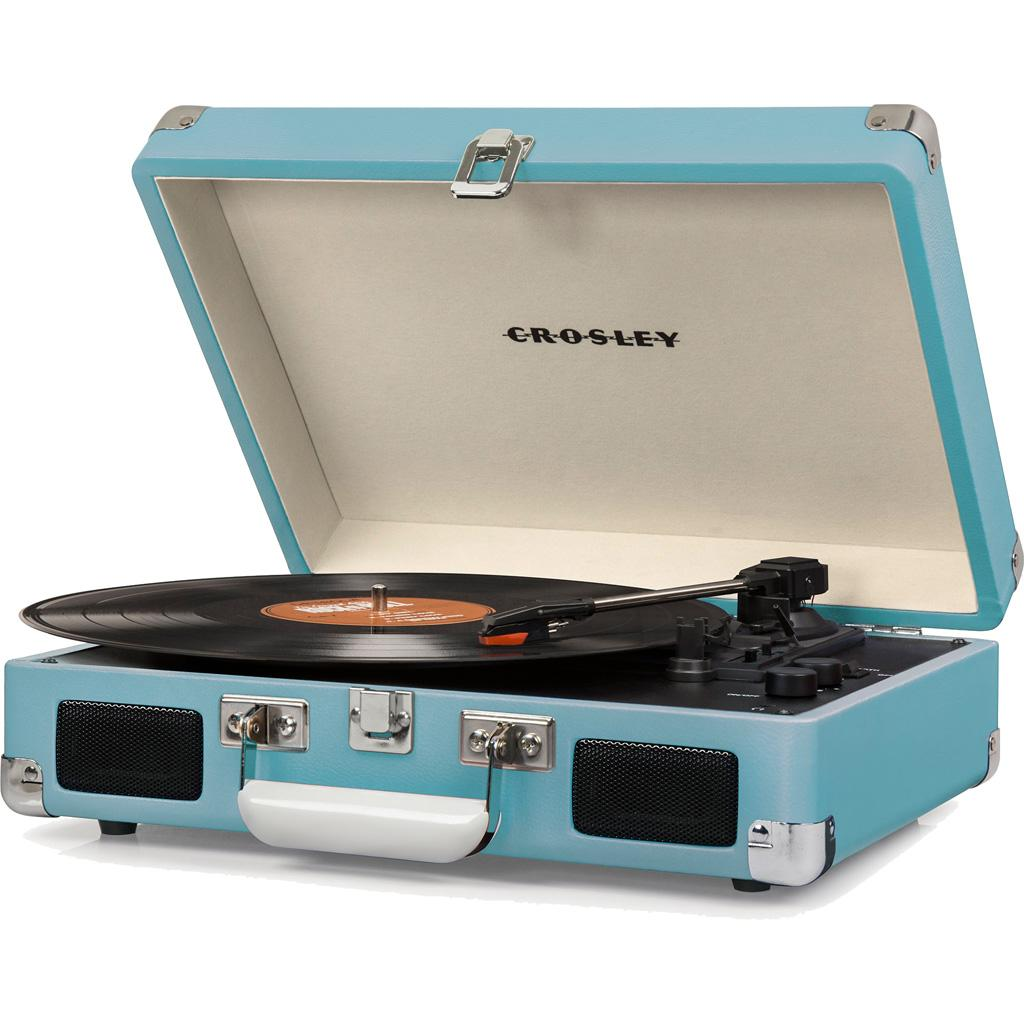 Crosley CR8005D-TU Cruiser Deluxe Portable 3-Speed Turntable with