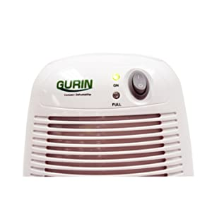 Gurin DHMD-210 Electric Compact Dehumidifier Close-Up Top Half View