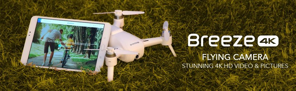 yuneec breeze 4k compact portable drone Ultra High Definition flying