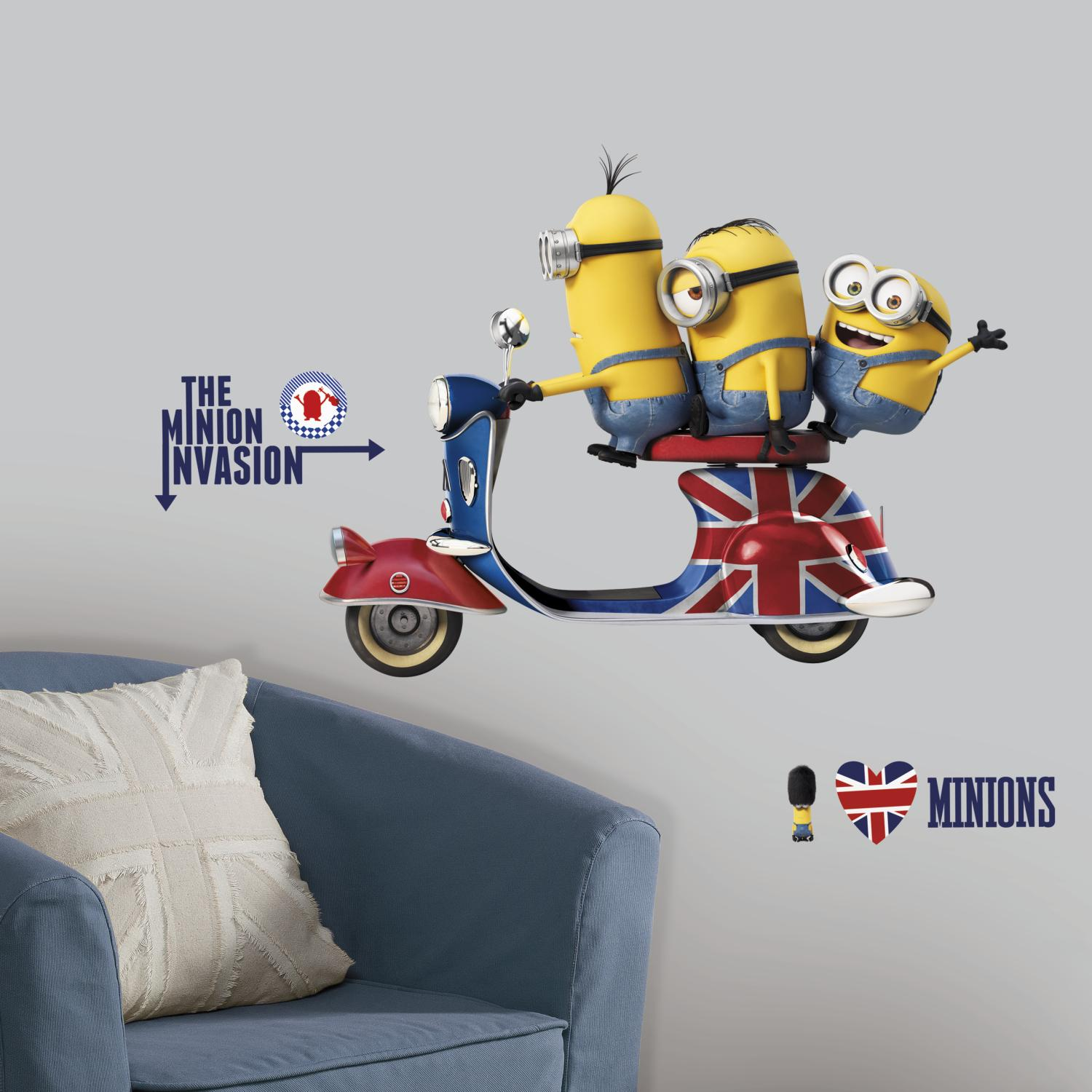 RoomMates RMK3002GM Minions The Movie Peel and Stick Giant Wall Decals