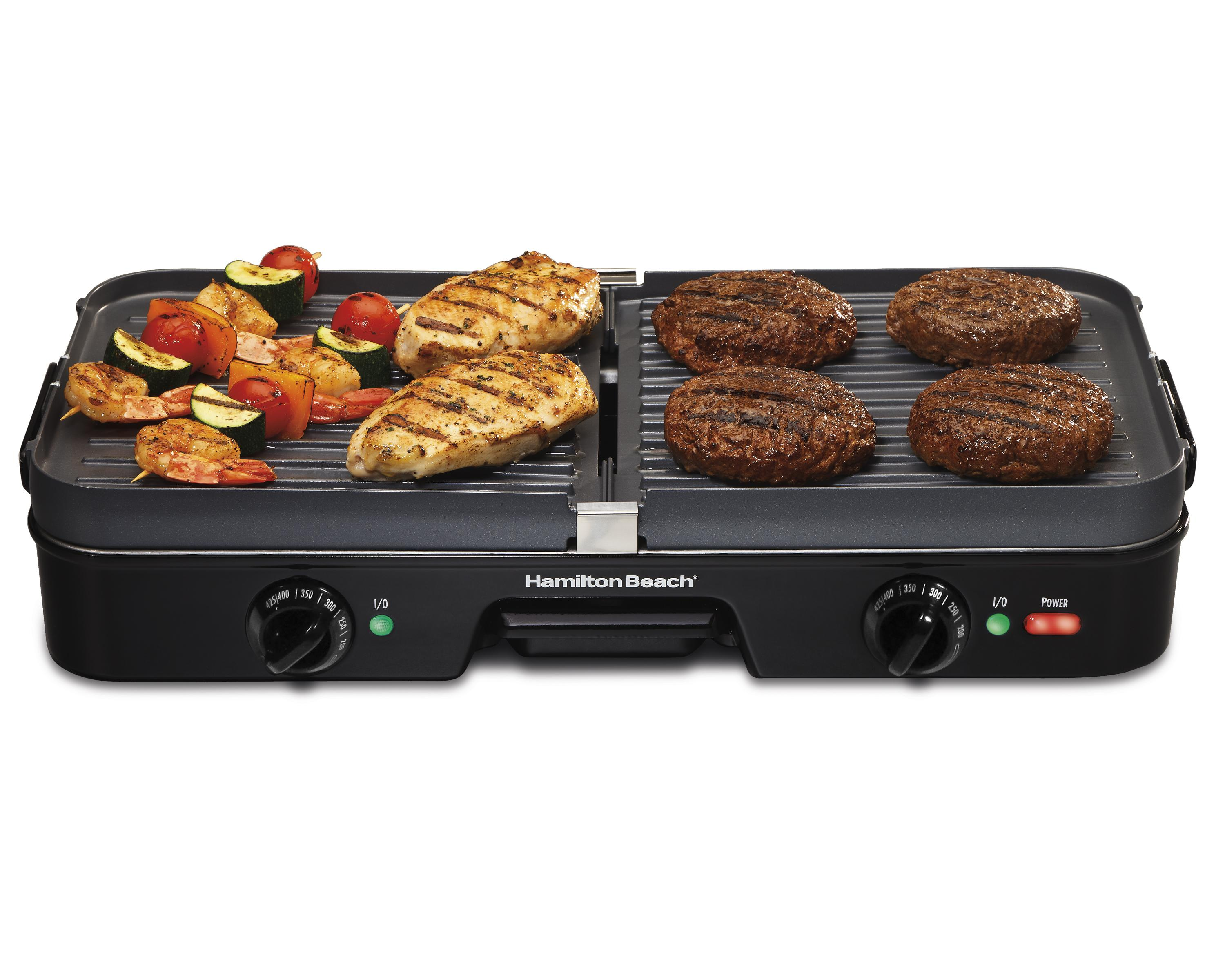 hamilton beach 38546 3 in 1 grill griddle electric griddles kitchen dining. Black Bedroom Furniture Sets. Home Design Ideas