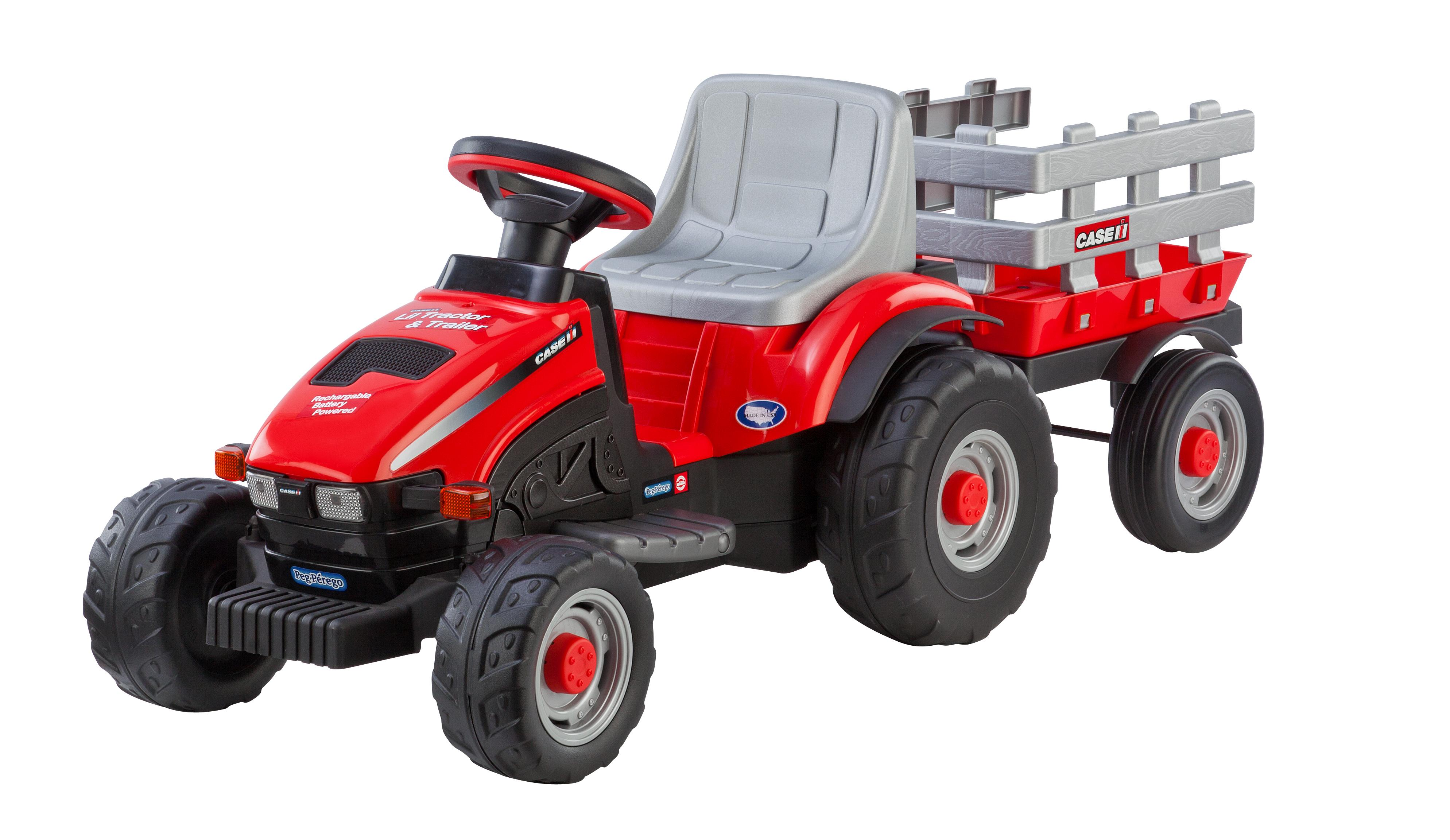 Amazon Com Peg Perego Case Ih Little Tractor And Trailer