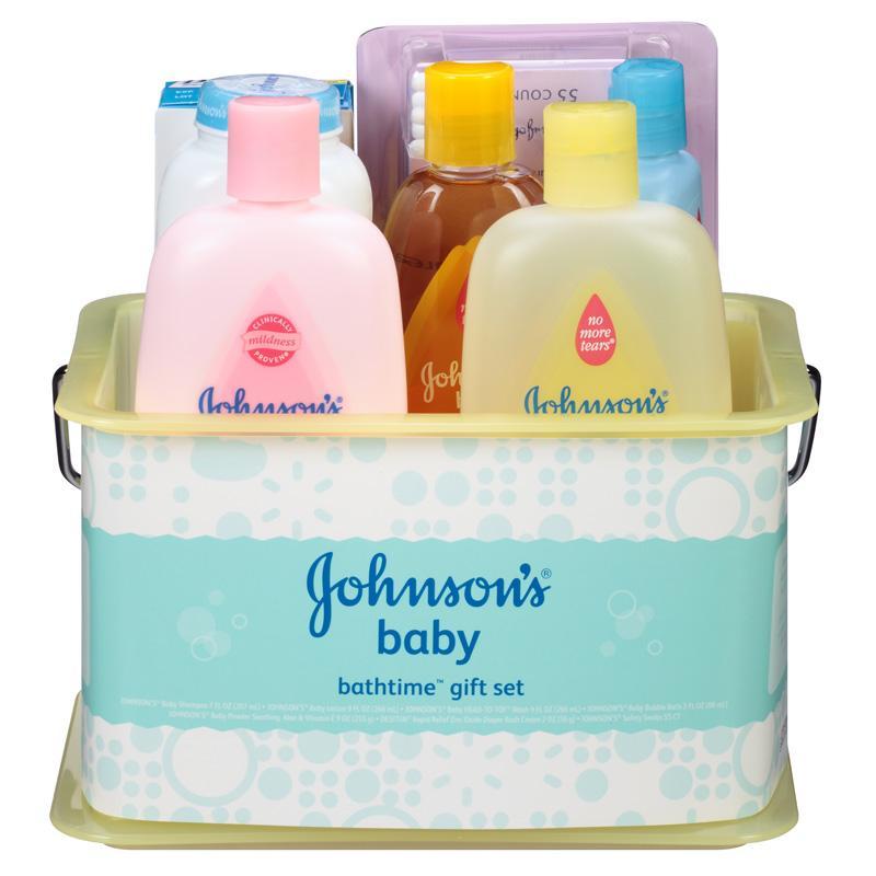 Amazon.com: JOHNSON'S Bath Discovery Baby Gift Set: Health ...