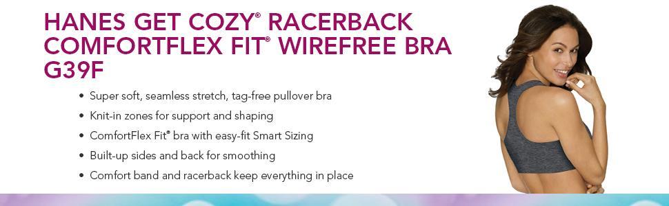ddf43ba9e30 Hanes Women s Get Cozy Racerback Bra at Amazon Women s Clothing store