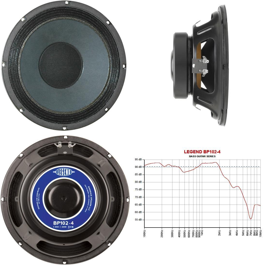eminence legend bp102 4 10 guitar speaker 200 watts at 4 ohms musical instruments. Black Bedroom Furniture Sets. Home Design Ideas