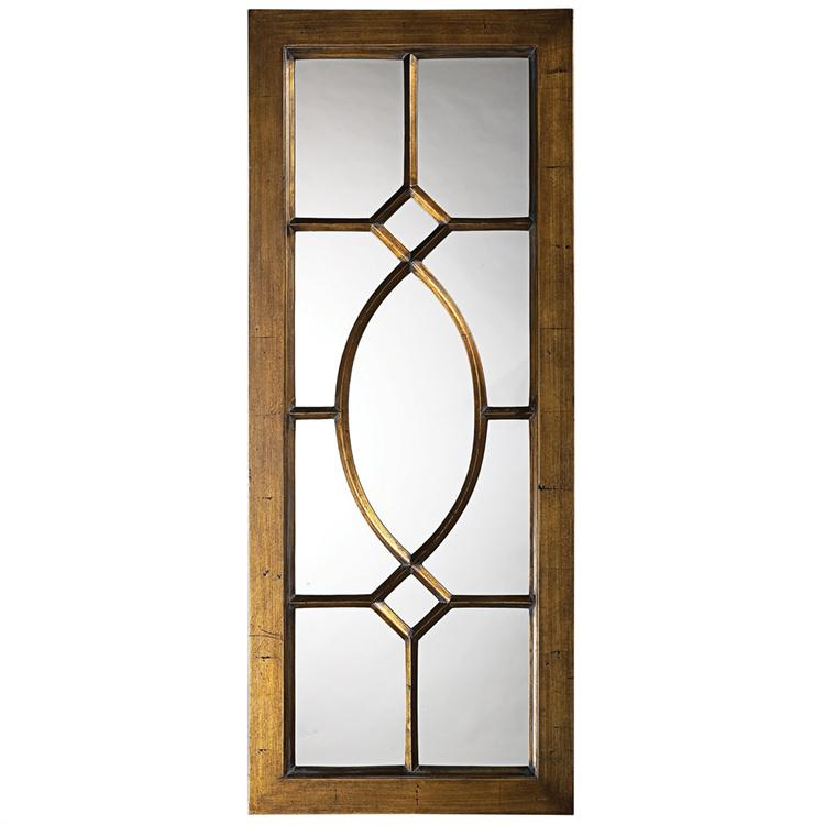 Howard Elliott 60108 Dayton Mirror, Bronze Finished Frame. Howard Elliott's  Dayton Mirror features a lovely windowpane design ...