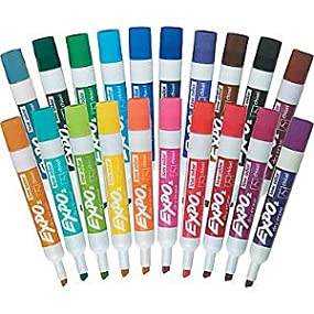 Amazon.com : EXPO Low-Odor Dry Erase Markers, Chisel Tip