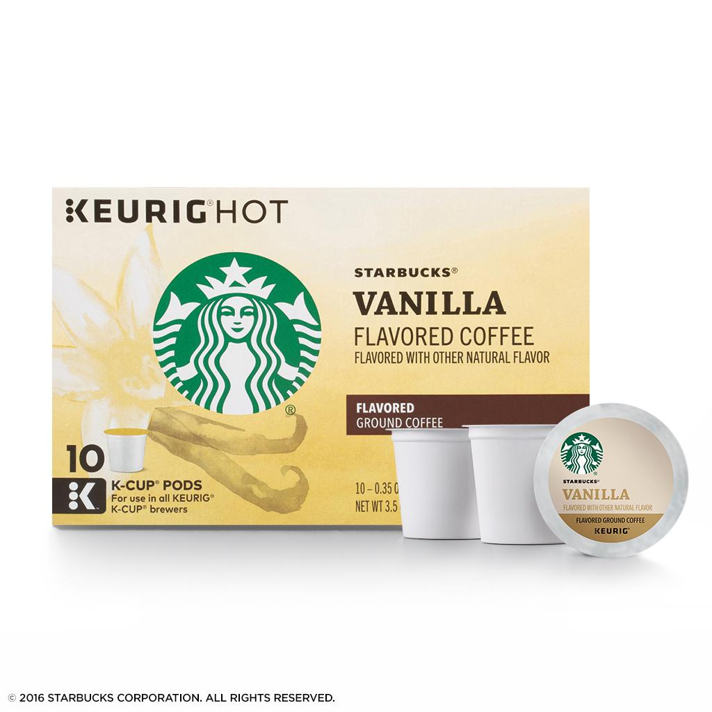 Starbucks Vanilla Flavored Blonde Light Roast Single Cup