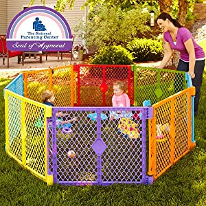 superyard; colorful play yard; colorplay; baby superyard