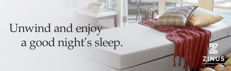 Amazon Com Zinus Memory Foam Resort Folding Guest Bed