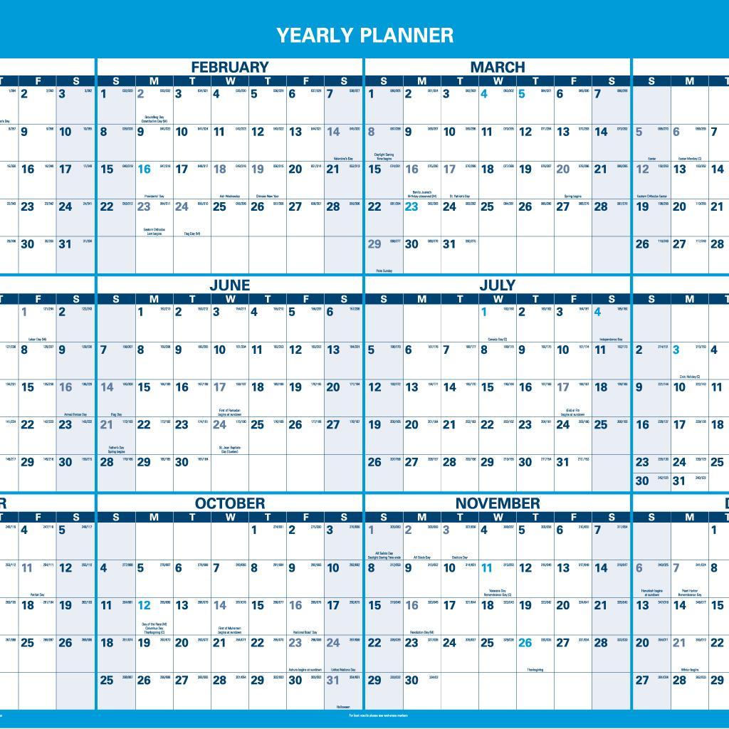 amazon com at a glance pm30028 horizontal erasable wall planner