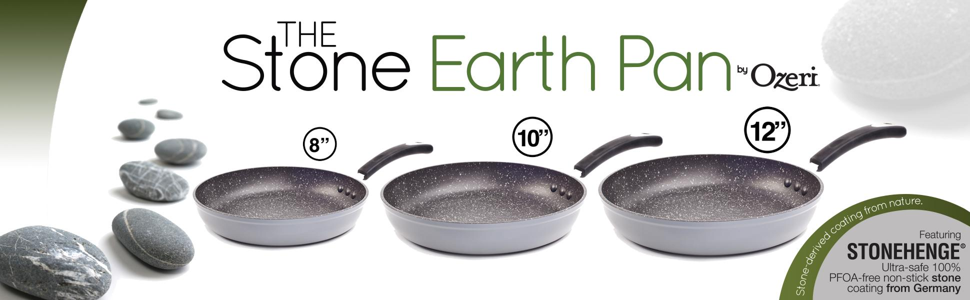 Amazon Com 12 Quot Stone Earth Frying Pan By Ozeri With 100
