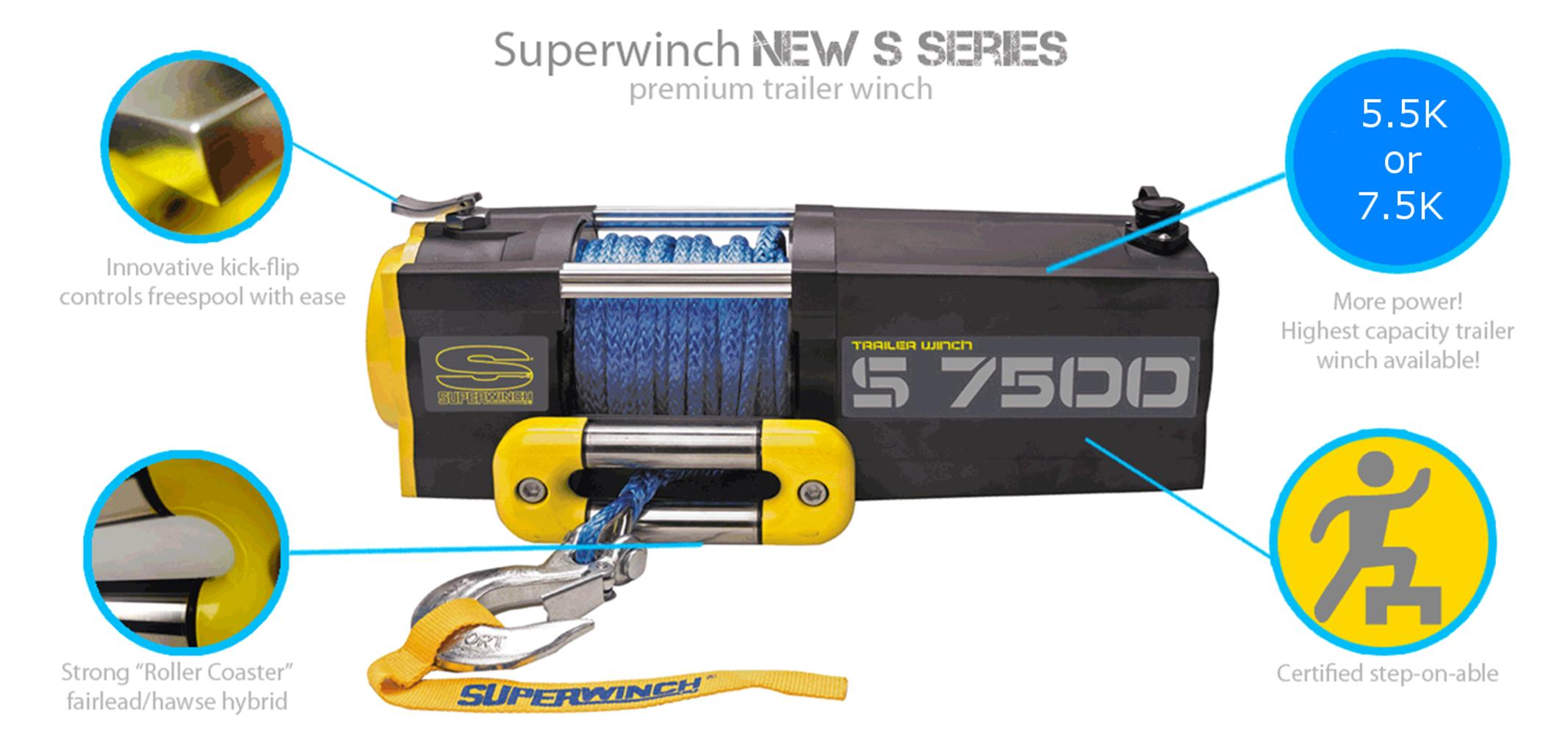 Superwinch 1455201 S5500 SR 12V 5500 lb Winch with Synthetic Rope  on warn solenoid diagram, warn winch control box diagram, warn winch wiring, warn wireless control diagram, warn winch solenoid problems, warn 8274 diagram, warn parts diagram,