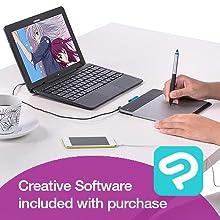 Turcom, VT pen pad, graphic tablet, digital drawing pad, Illustrator, Ugee, Photoshop Elements