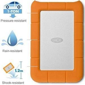 LaCie Rugged USB 3.0 Mini Disk Portable Hard Drive