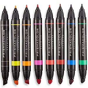 Prismacolor art markers feature premium-quality, alcohol- and dye-based ink