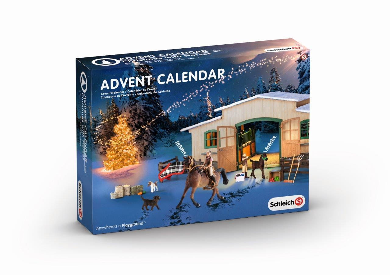 Amazon Com Schleich Horse Stable Christmas Advent