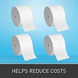 Compact 4 Roll Quad Coreless High Capacity Toilet Paper