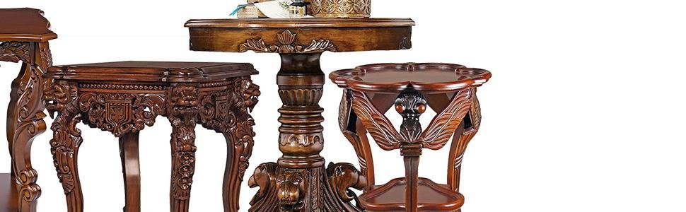 design toscano furniture, toscano tables, wood tables
