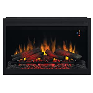 """ClassicFlame 36EB220-GRT 36"""" Traditional Built-in Electric Fireplace Insert, 240 volt"""