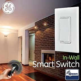 Wall Sconces Zwave : GE Z-Wave Wireless Smart Lighting Control Smart Switch, On/Off, In-Wall, Includes White & Light ...